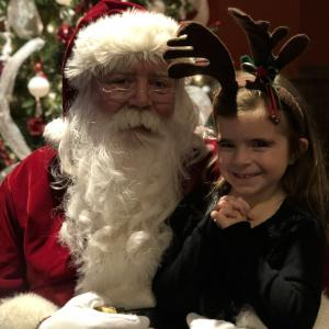 My girl and Santa