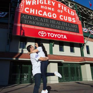 Wrigley Field Engagement Session