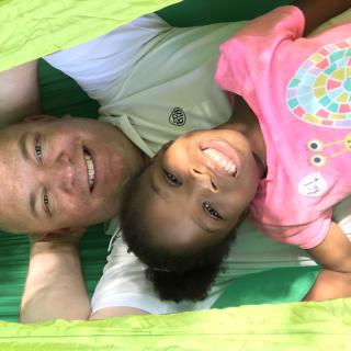 Papa and Kennedy chillaxin in our new hammock