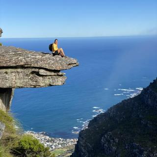 1060m high table mountain hike in Cape Town